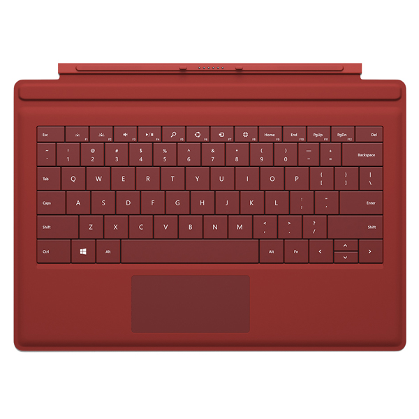 Клавиатура Microsoft Surface Pro 3 Type Cover Red